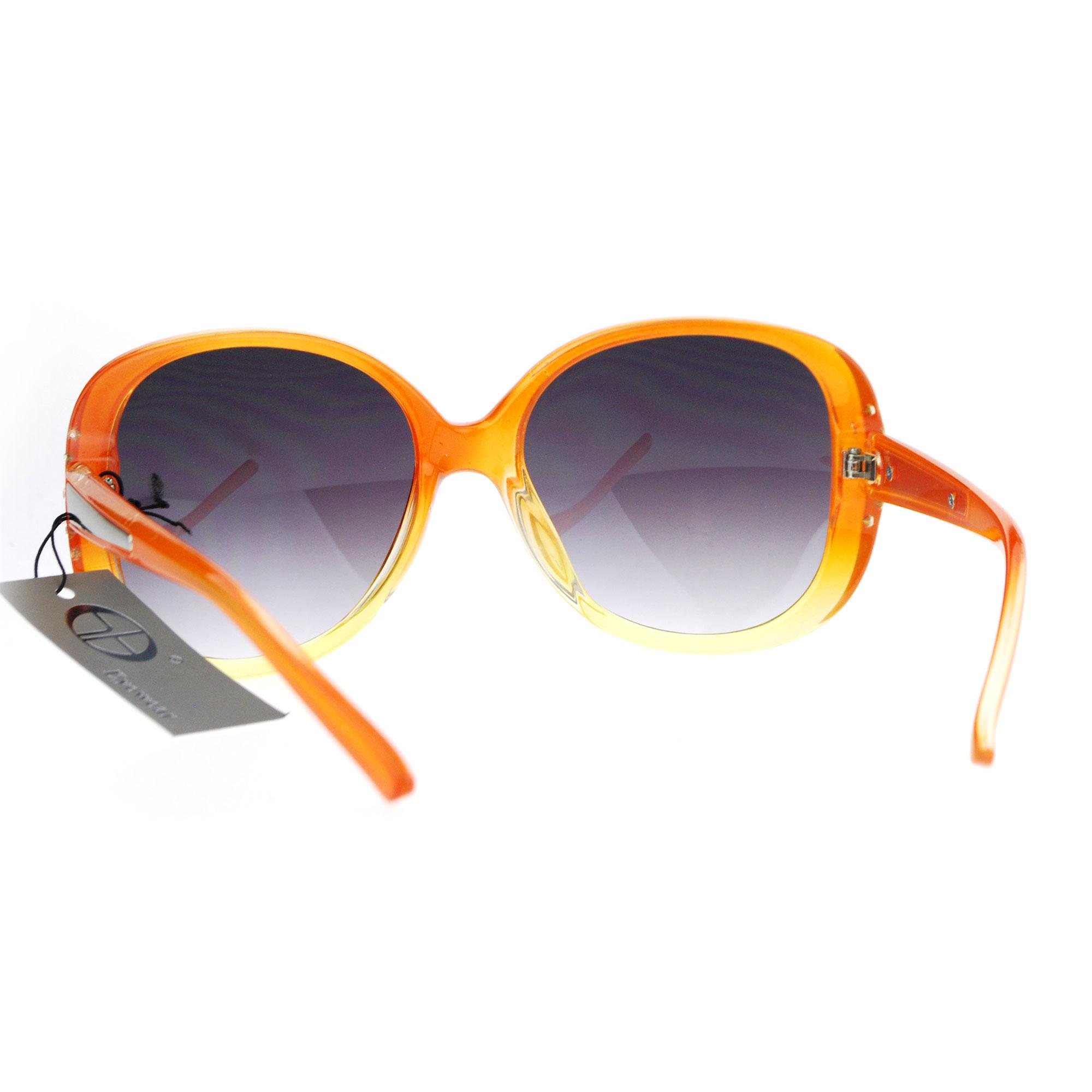 SA106 Womens Rhinestone Studded Oversize Fashion Plastic Butterfly Sunglasses