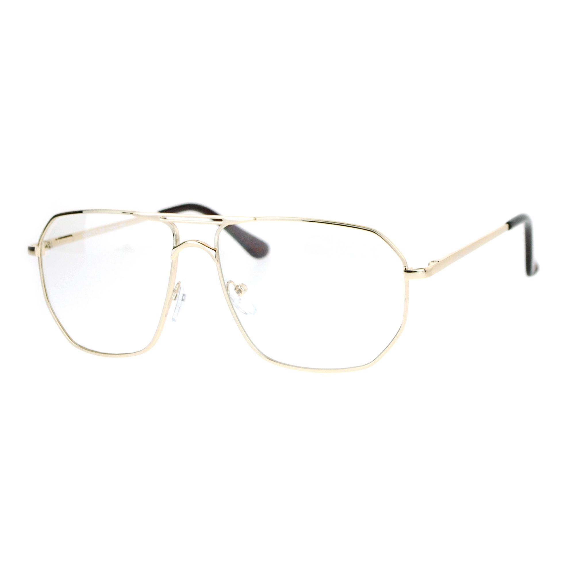 Mens Hipster Eyeglass Frames : SA106 Mens Hipster Geeky Nerd Large Aviator Eye Glasses eBay