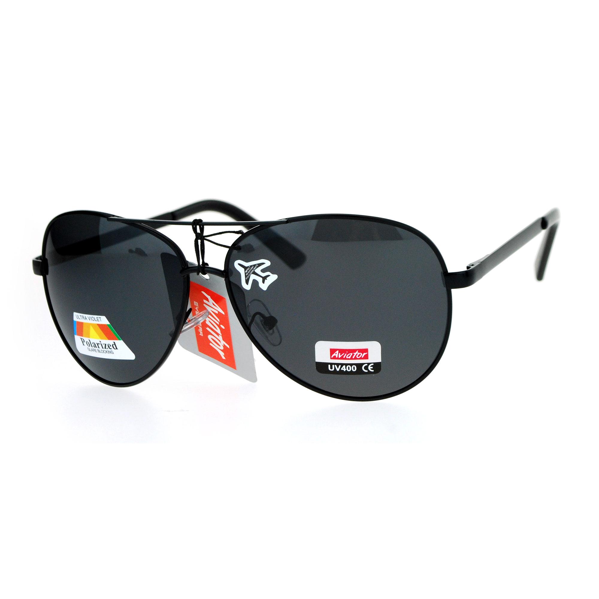 26f440a77f SA106 Antiglare Polarized Lens Large Aviator Biker Police Sunglasses ...