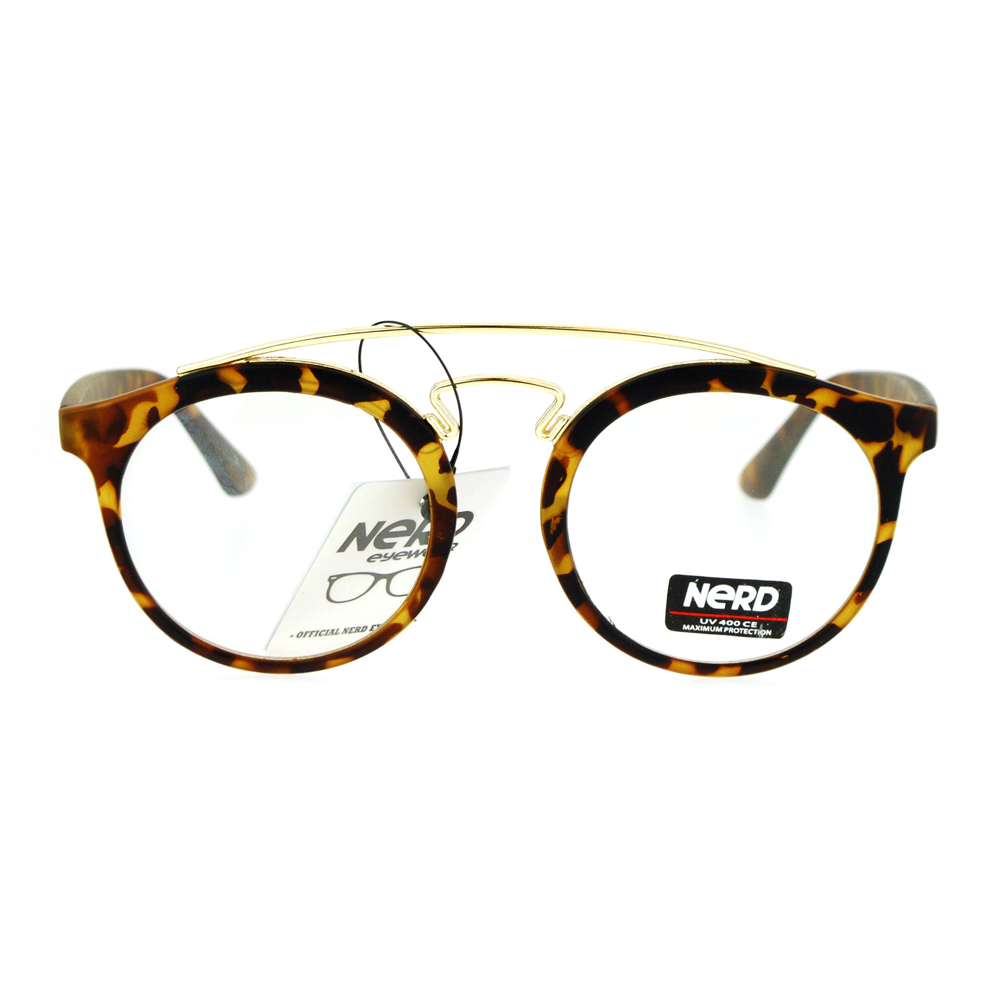 Mens Round Wire Frame Glasses : SA106 Nerd Double Metal Frame Keyhole Round Mens Eye ...