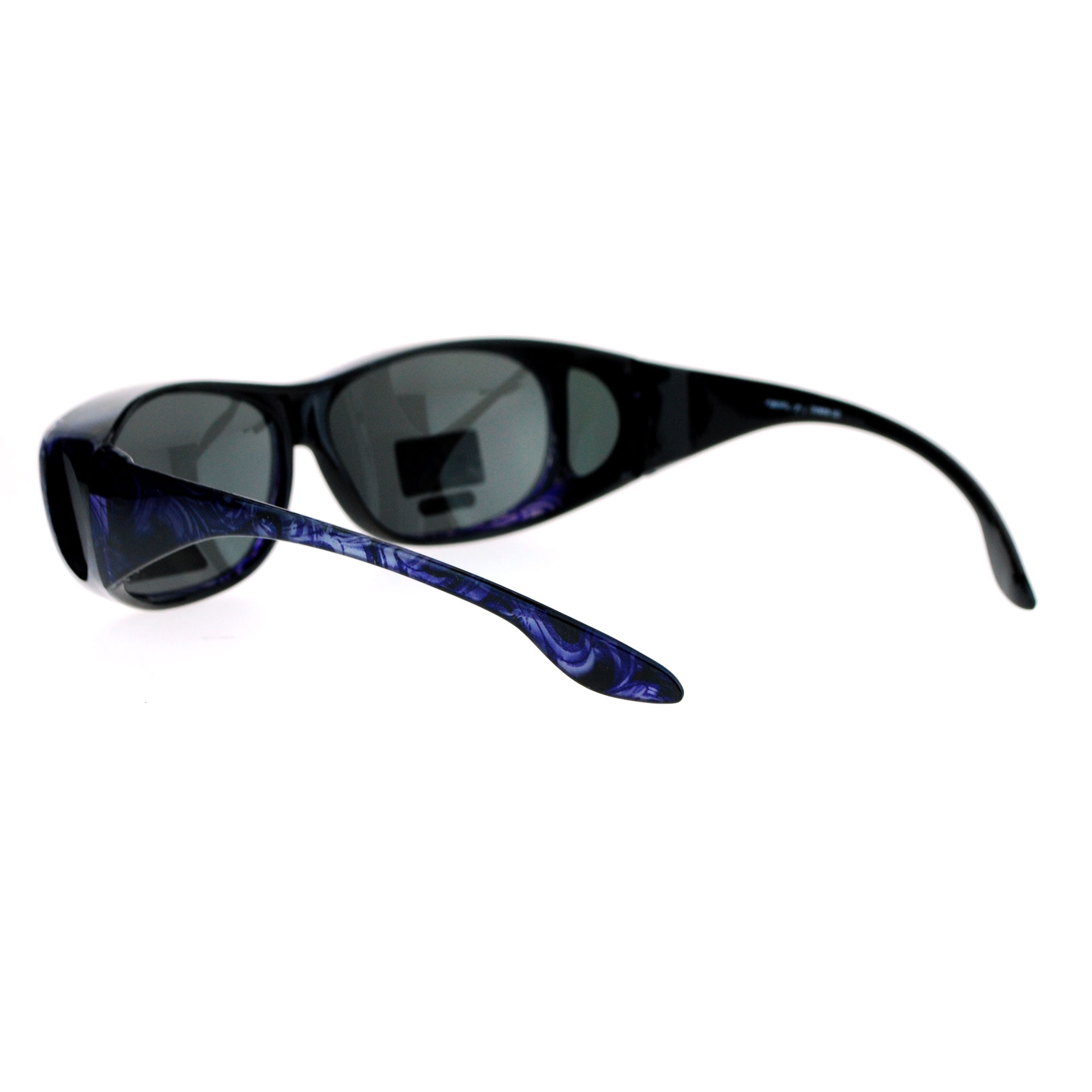 ea2fc34ce013 SA106 Polarized Womens 63mm Over the Glasses Rectangular Fit Over ...