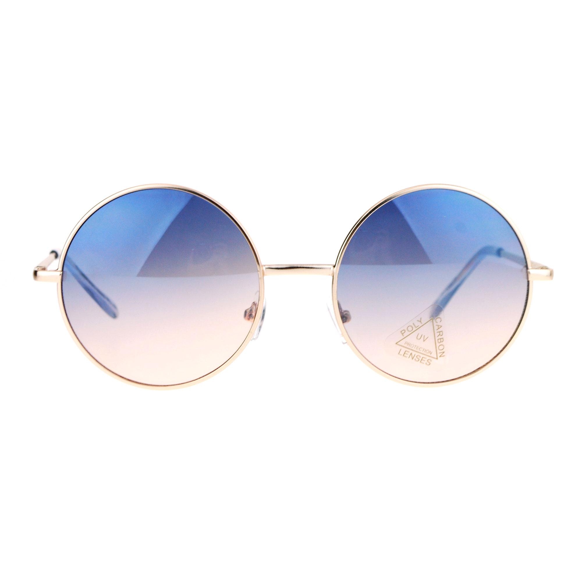 Colored Lens Sunglasses  sa106 oceanic color lens round circle hippie sunglasses ebay