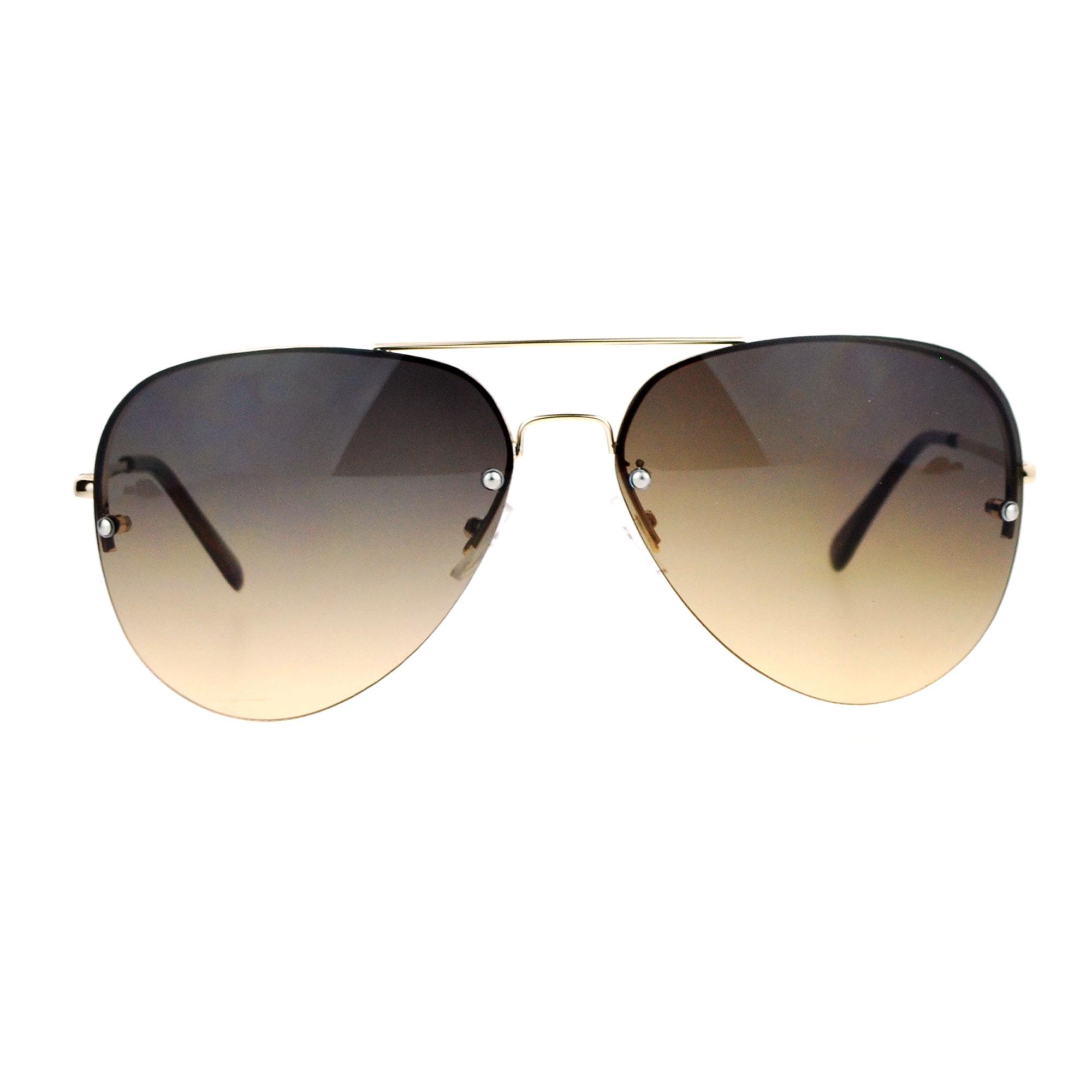 Rimless Aviator Sunglasses : SA106 Color Rimless Oceanic Gradient Aviator Sunglasses eBay