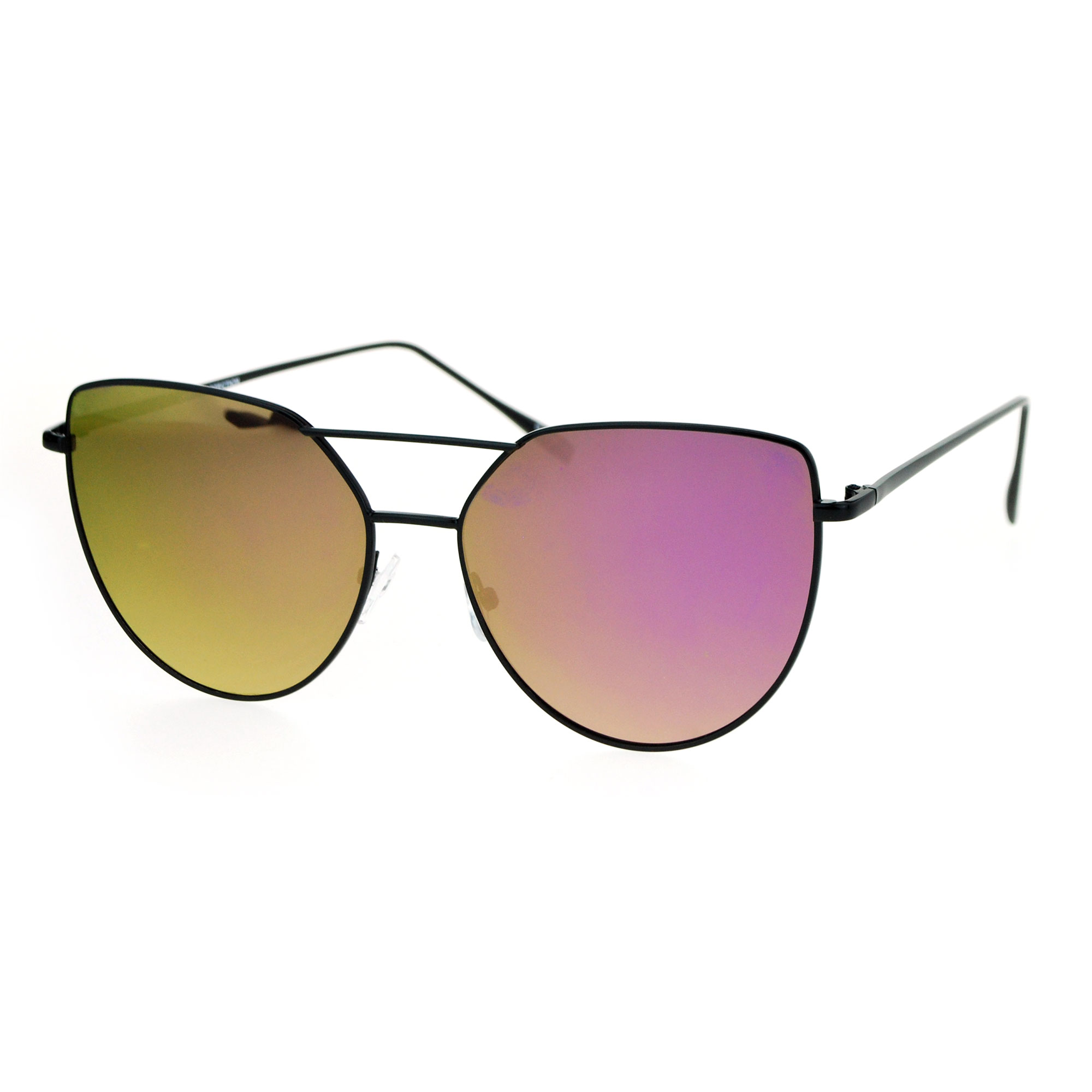Flash colored and mirrored lens sunglasses collection. Flash mirrored reflective color lenses allow dynamic color changing depending on angle and light. Each pair of revo or mirrored lens provides an intense look that will make any frame stand out!