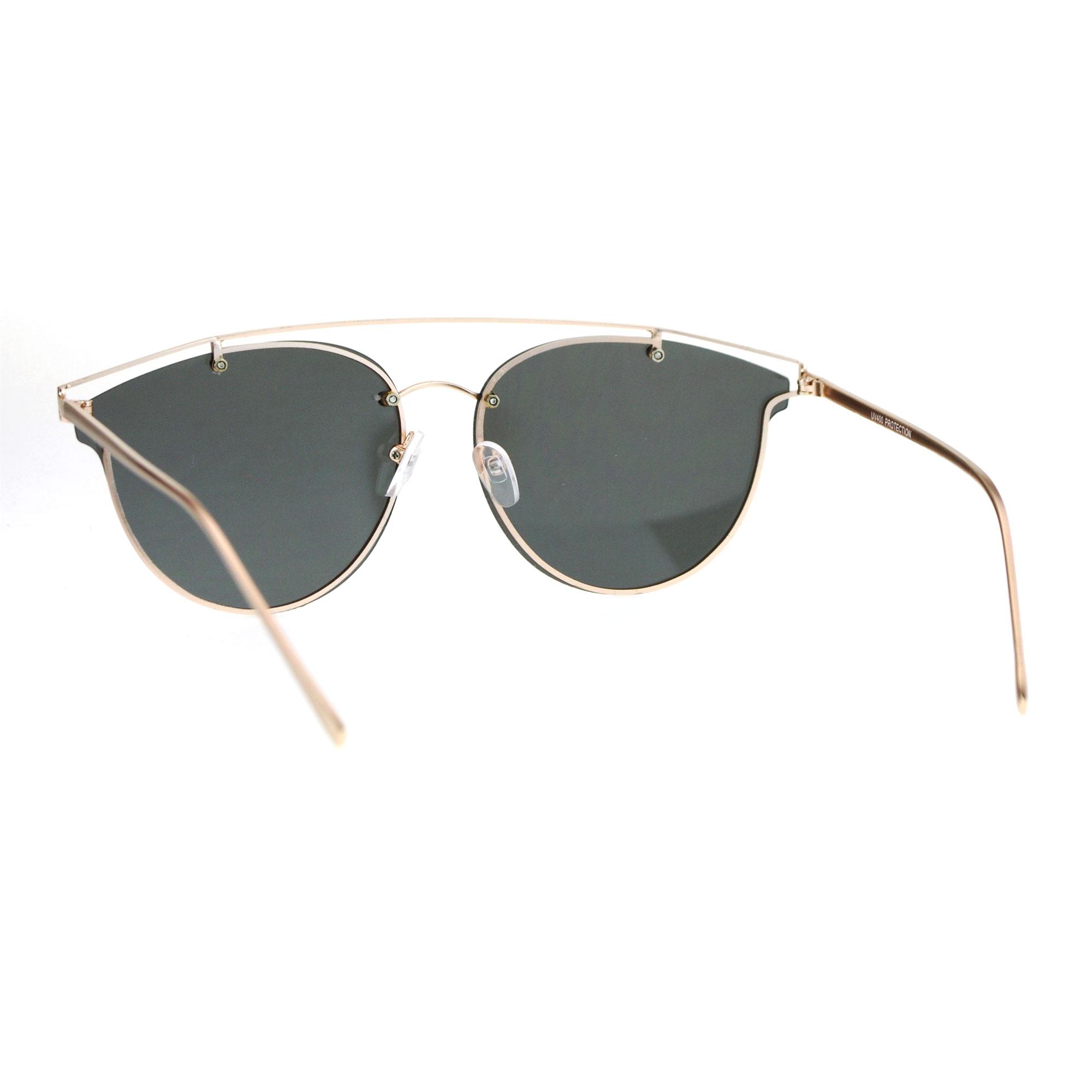 Rimless Wire Glasses : SA106 Color Mirror Flat Panel Unique Rimless Wire Bridge ...