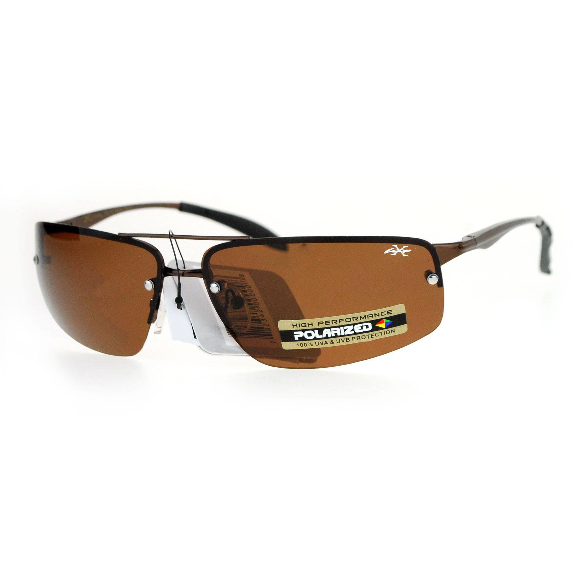 Xloop Rimless Rectangular Polarized Lens Mens Sport ...