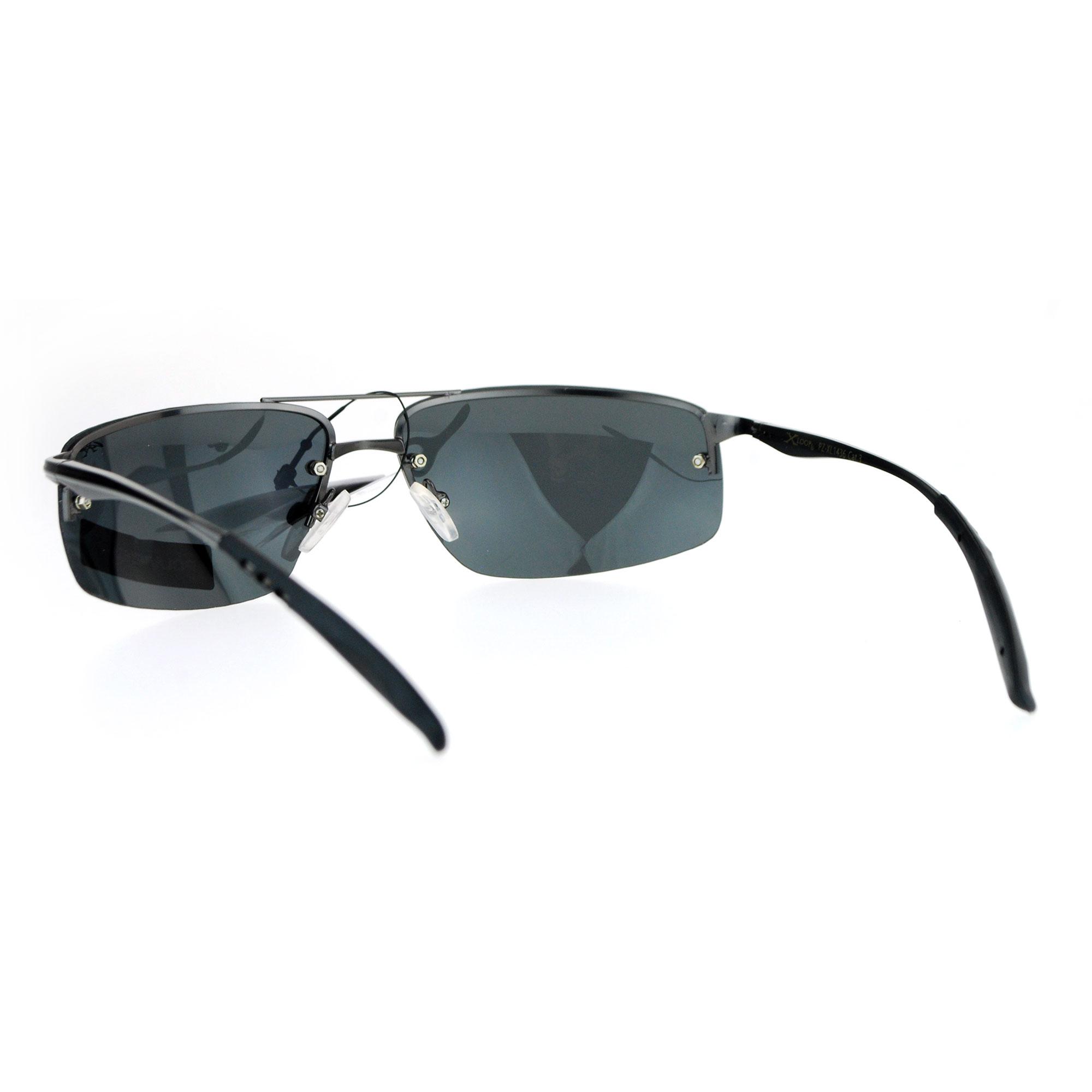 Rimless Polarized Sunglasses : Xloop Rimless Rectangular Polarized Lens Mens Sport ...