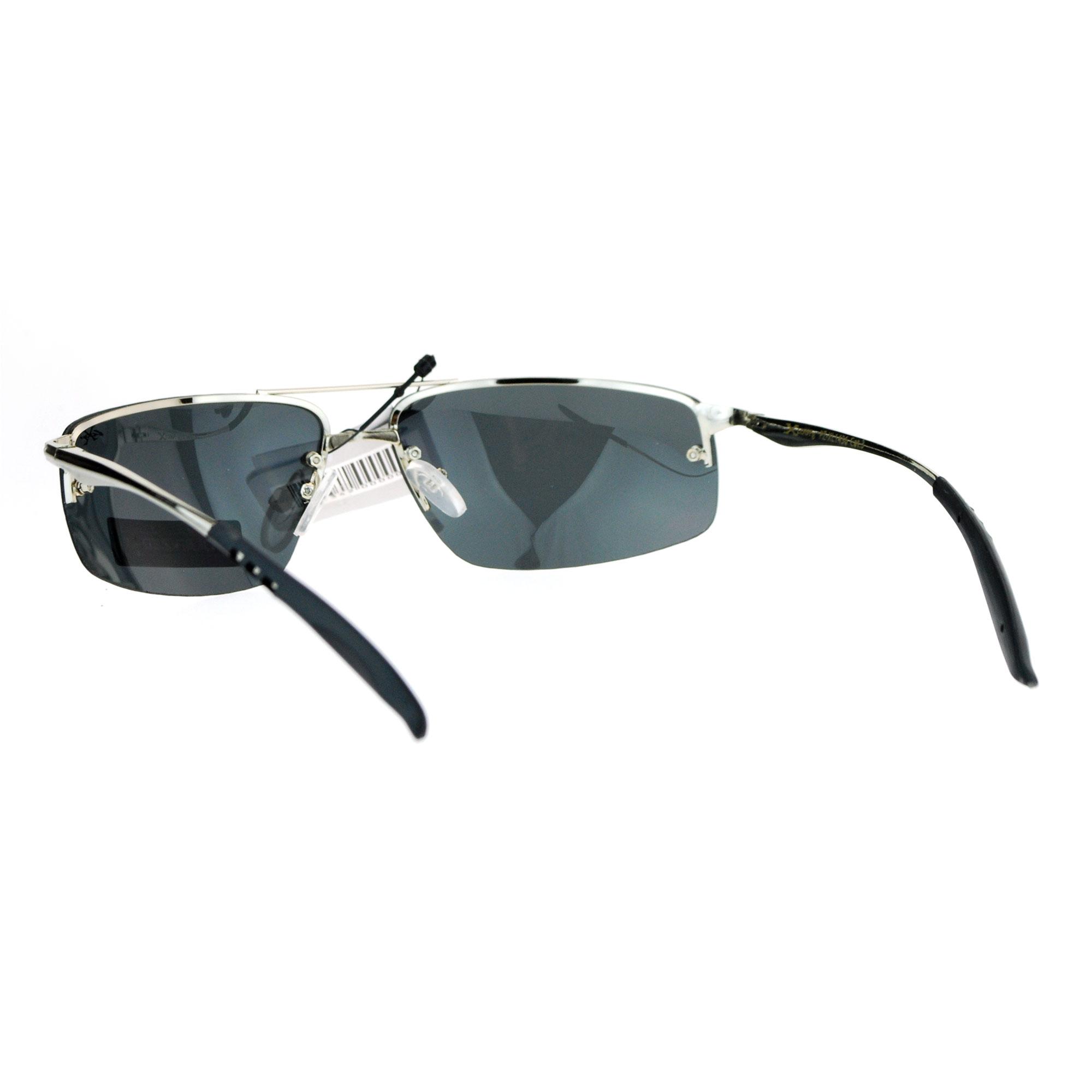 Rimless Sports Glasses : Xloop Rimless Rectangular Polarized Lens Mens Sport ...