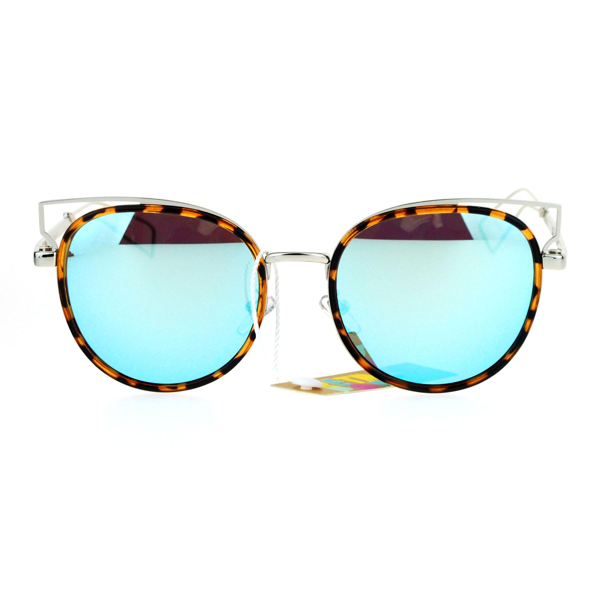 Womens Retro Designer Cat Eye Wire Horn Rim Diva Sunglasses | eBay