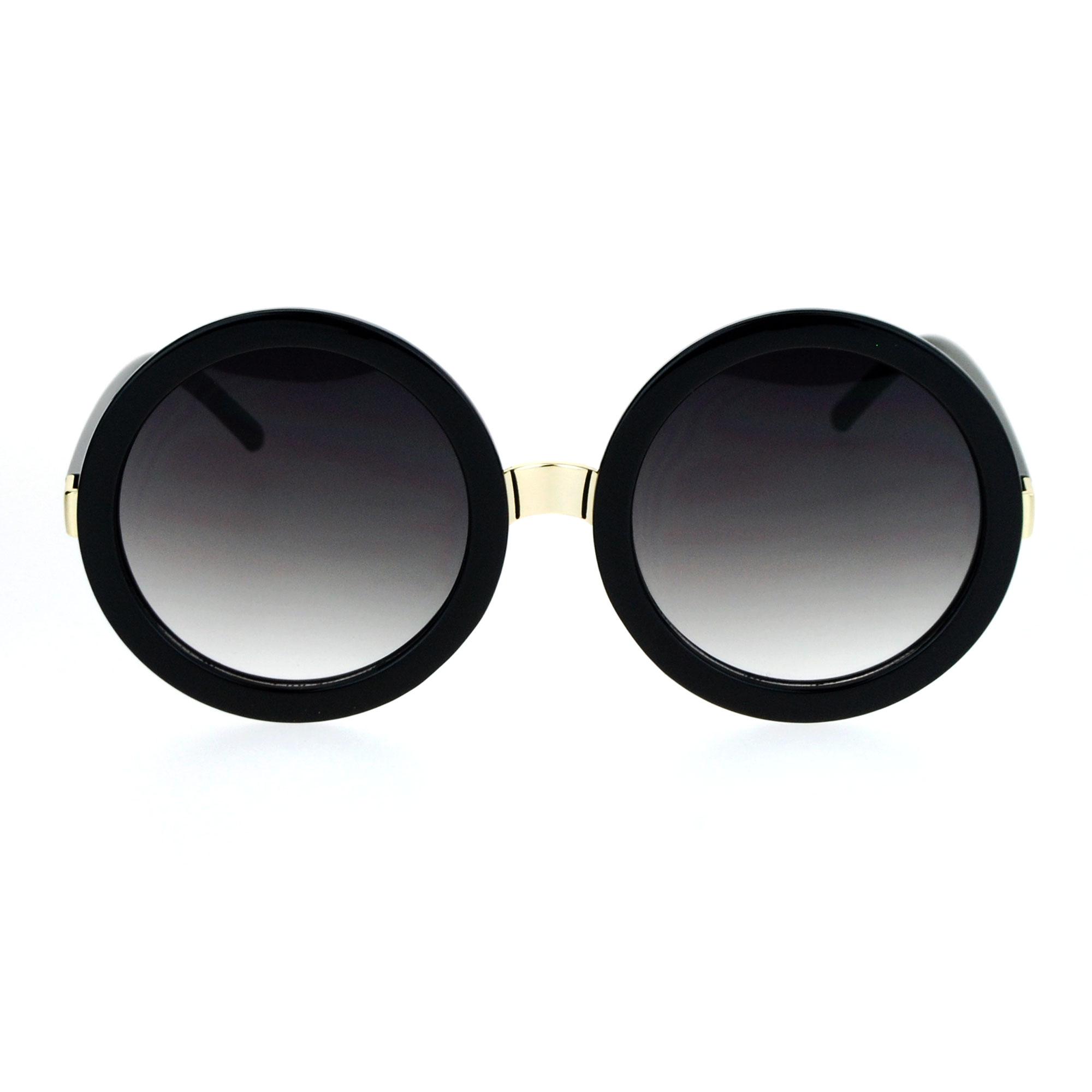 Round Circle Sunglasses  womens thick plastic round circle lens mod designer sunglasses ebay