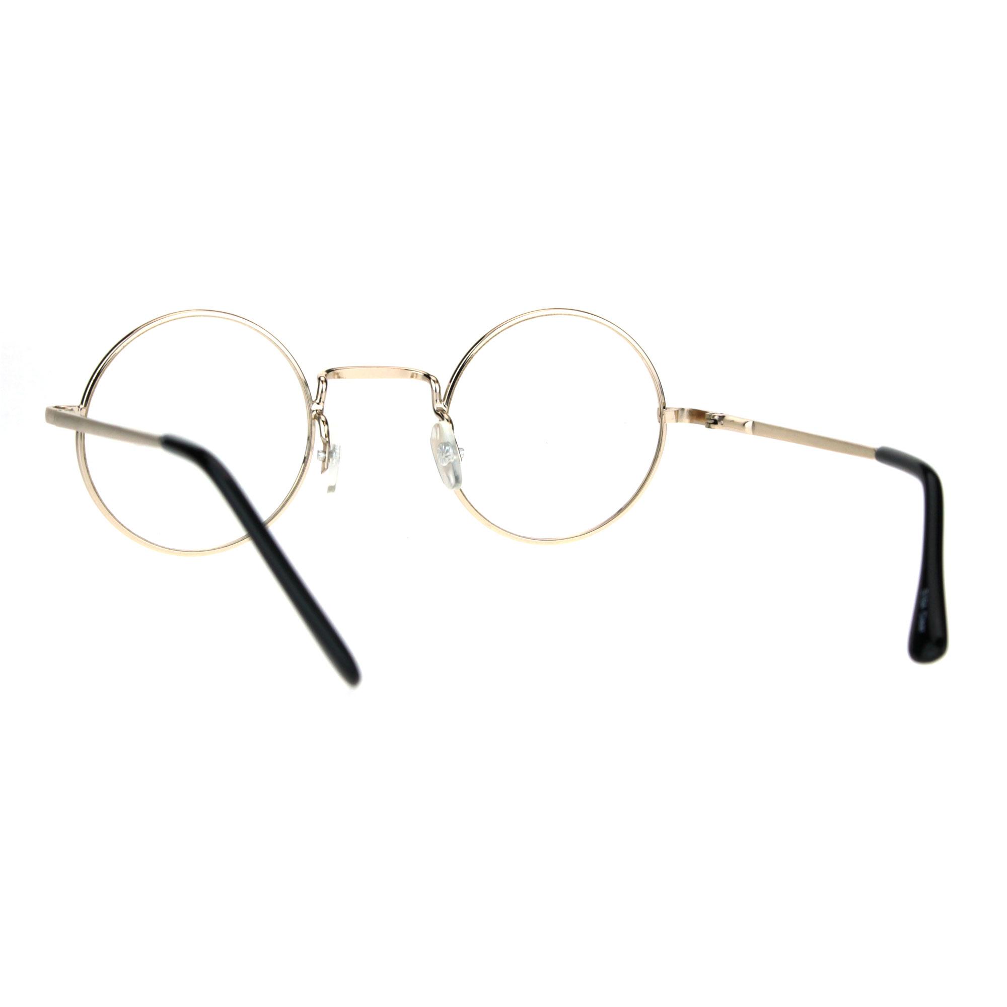 937c507708 Classic Metal Rim Round Circle Lens Pimp Hippie Clear Lens Eye ...