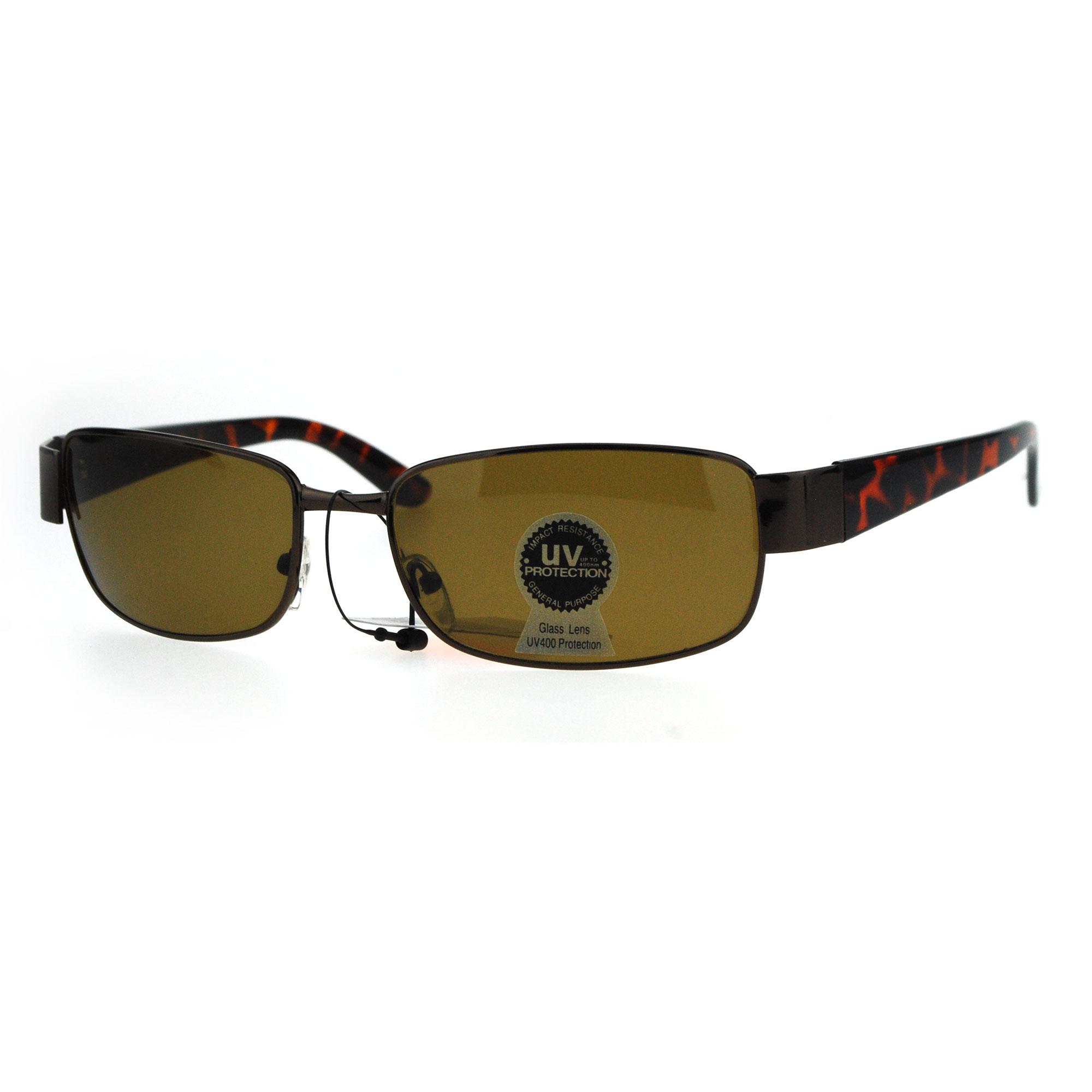 e2ff9199602 Tempered Glass Lens Rectangular Luxury Mens Designer Sunglasses