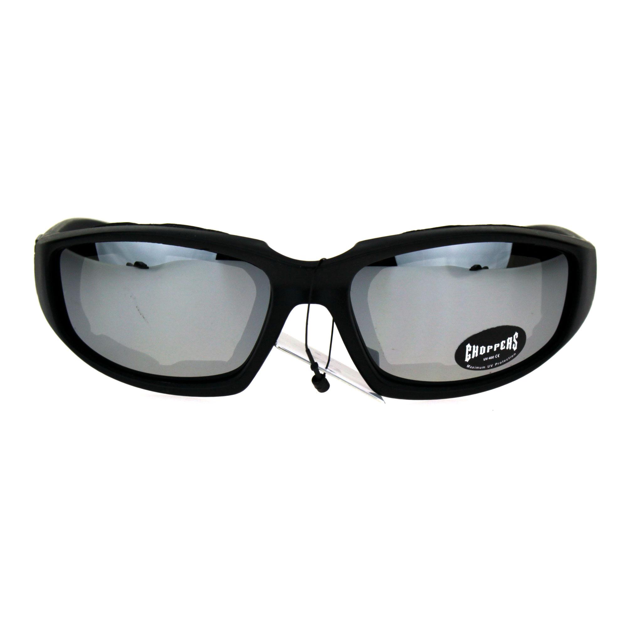 9bb0e79e989 Choppers Foam Padded Biker Wind Breaker Motorcycle Riding Sunglasses ...