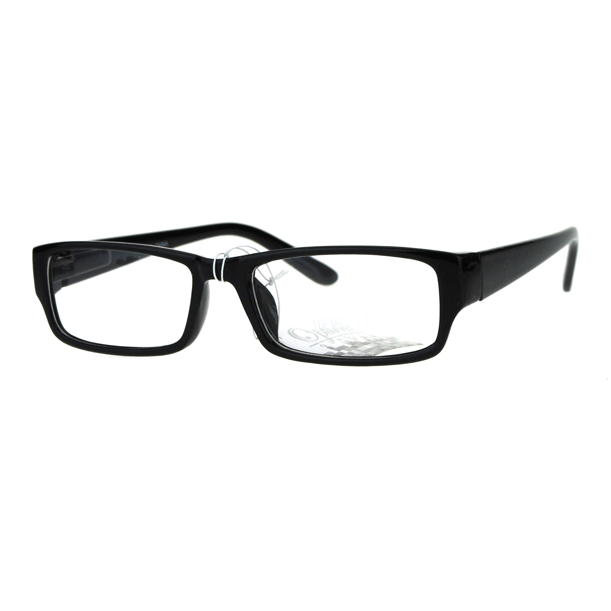 Glasses Narrow Frame : Mens Classic Narrow Rectangular Plastic Clear Lens Eye ...