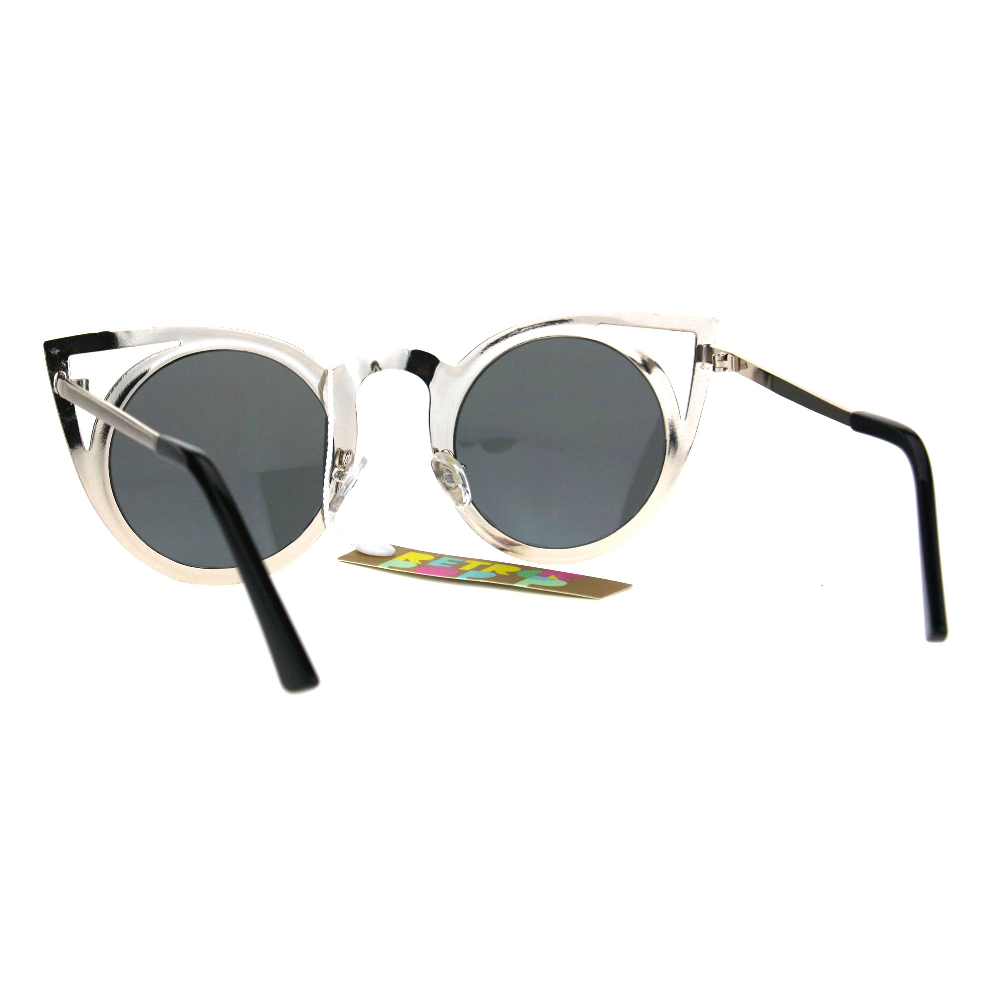 ee8e120d3 Womens Metal Bat Shape Cat Eye Round Circle Lens Sunglasses   eBay