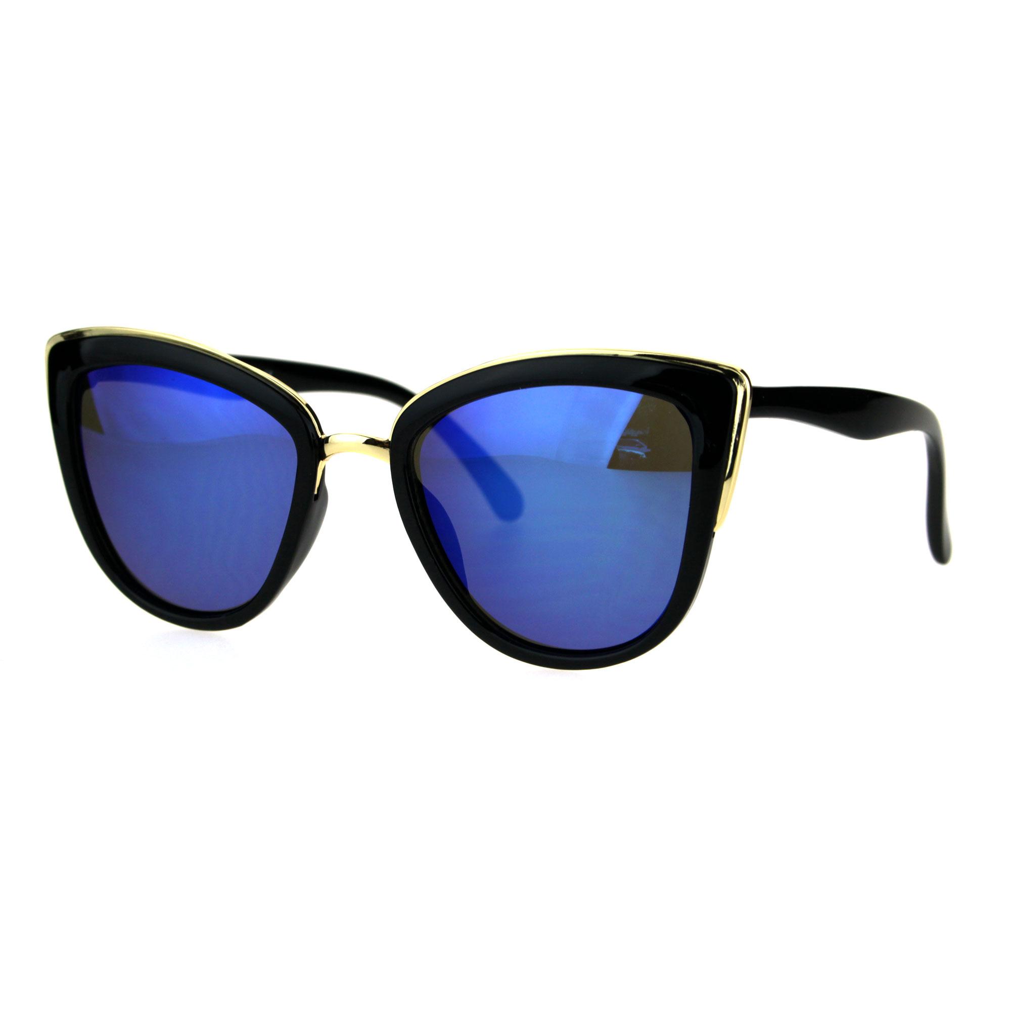 Womens Gothic Retro Oversize Cat Eye Fashion Sunglasses
