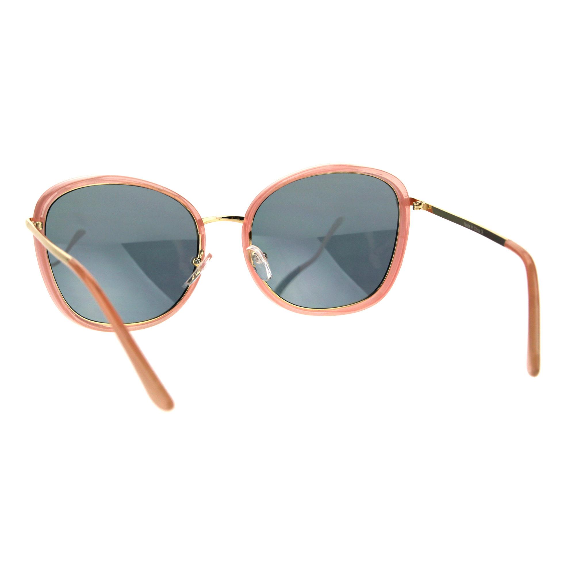 Womens Retro Double Rim Designer Fashion Butterfly Sunglasses