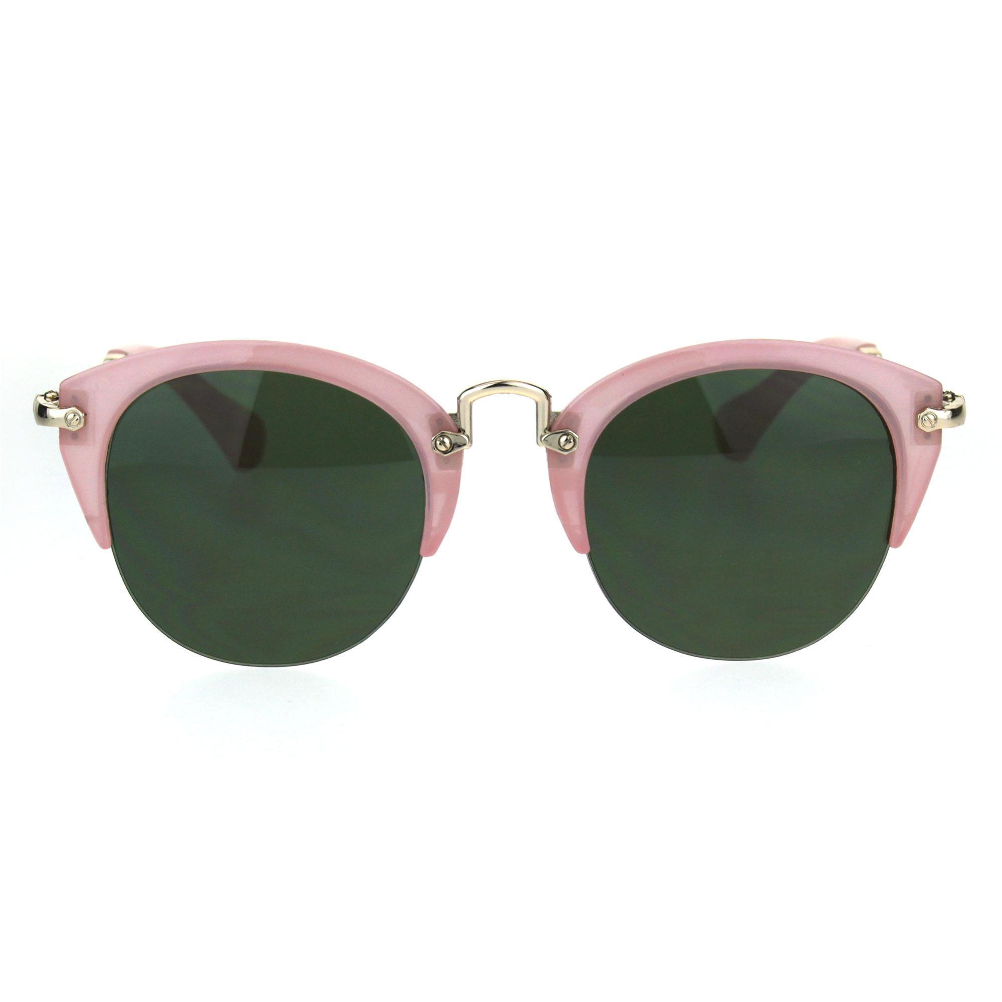 Womens Half Rim Cat Eye Gothic Fashion Retro Vintage Sunglasses