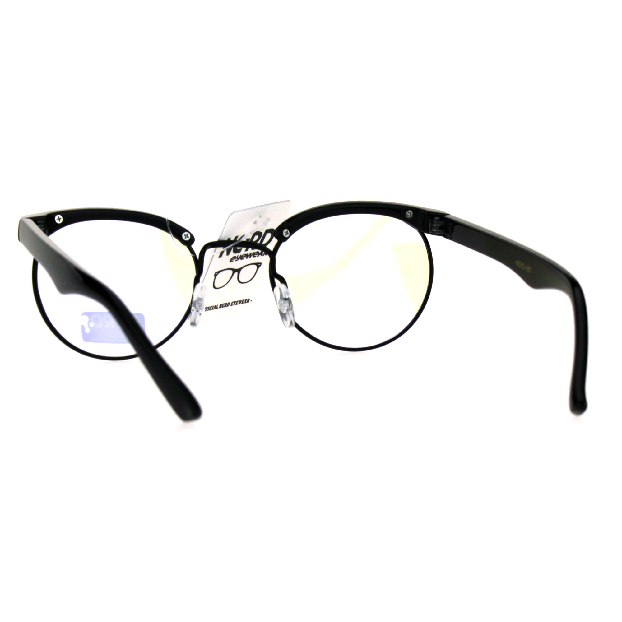115965fda68 Retro Vintage Classic Half Rim Round Oval Clear Lens Eye Glasses