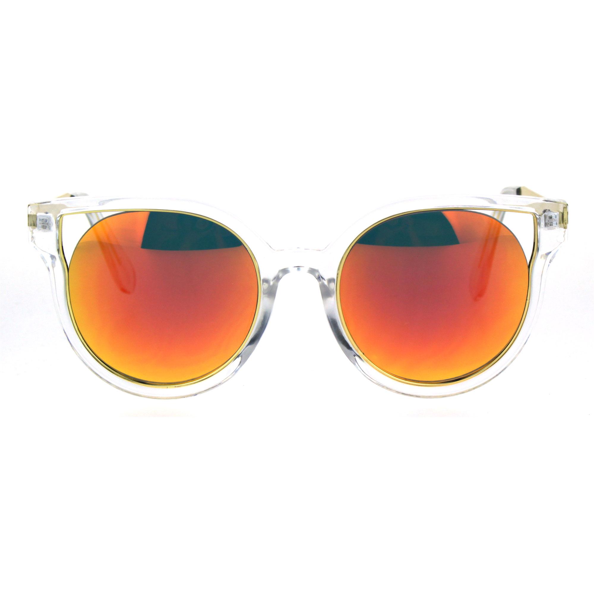 Large womens fashion oversized round circle sunglasses ebay - Womens Plastic Clear Horn Rim Cat Eye Round Retro Fashion