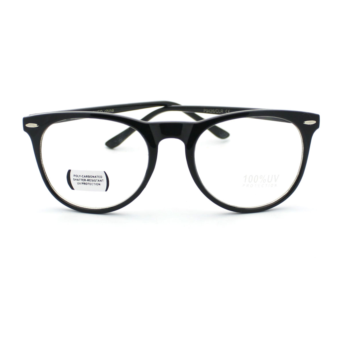 3ef4a2fc672 Details about Geeky Round Thin Horn Rim Fashion Nerd Eye Glasses (3 Color  Option)