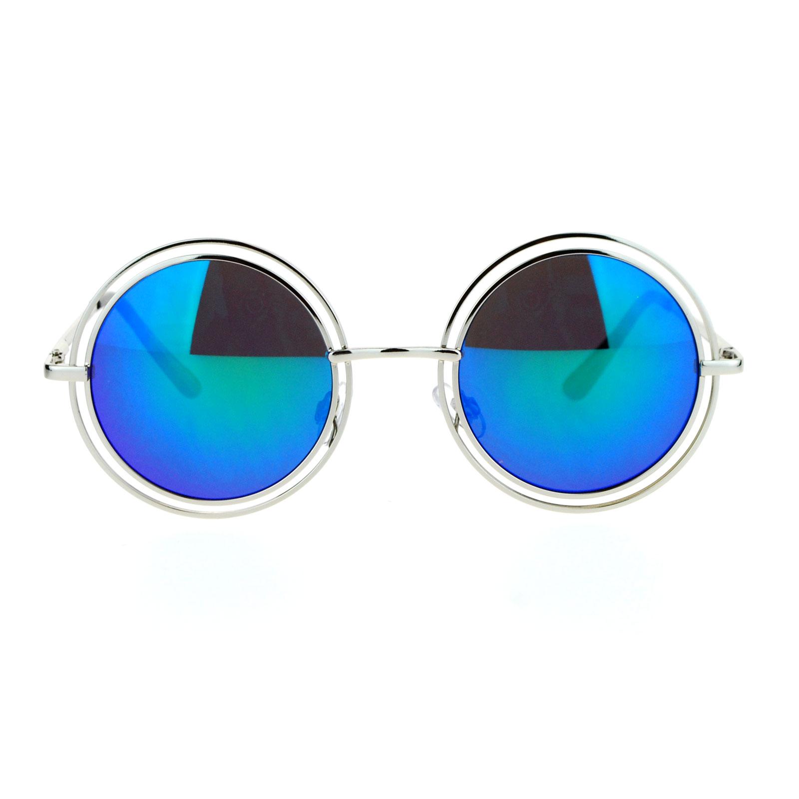 39e7d028975a Fantastic SA106 Unisex Double Frame Hippie Round Circle Lens Pimp Sunglasses  KW85