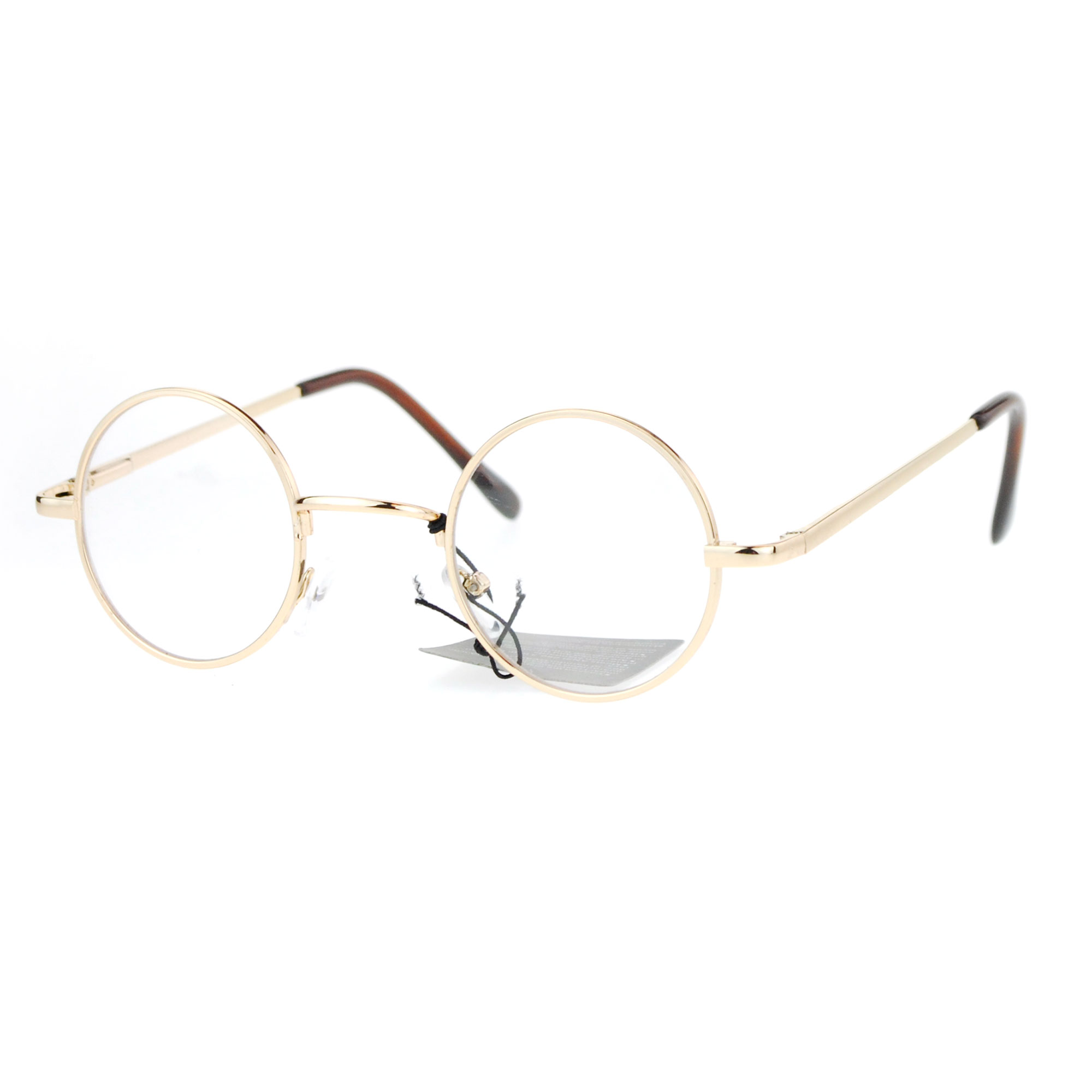 0e3067a82d621 Snug Small Retro Vintage Hippie Round Circle Lens Eye Glasses Gold. About  this product. Picture 1 of 3  Picture 2 of 3 ...